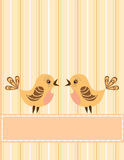 Singing birds. Greeting card. Royalty Free Stock Photos