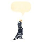 Singing black bird cartoon Royalty Free Stock Photos