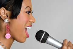 Singing Black Girl Royalty Free Stock Images