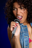 Singing Black Woman Royalty Free Stock Photos