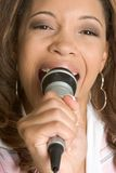 Singing Black Woman Stock Images