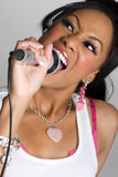 Singing Black Woman Royalty Free Stock Images