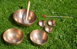Singing bowls Royalty Free Stock Photos