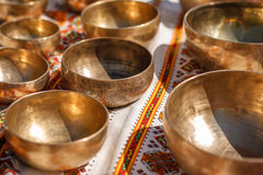 Singing Bowls - Cup of life - popular mass product souvenier in Nepal, Tibet and India Stock Image