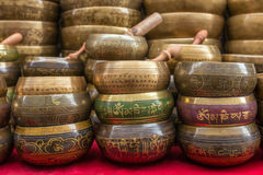 Singing Bowls Cup of life - popular souvenier in Nepal Royalty Free Stock Images