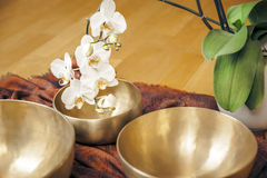 Singing bowls Stock Photo