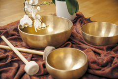Singing bowls Stock Photography