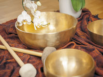 Singing bowls Royalty Free Stock Images