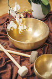 Singing bowls Stock Photos