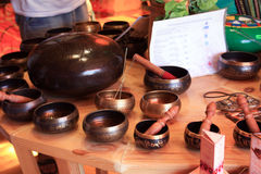 Singing bowls Stock Image
