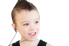 Singing boy Royalty Free Stock Photography