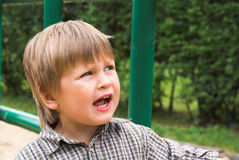 Singing boy Royalty Free Stock Photos