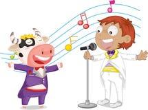 Singing boy Stock Images