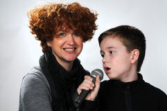 Singing boy Stock Photo