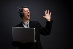 Singing businessman Stock Photography