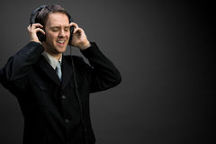 Singing businessman Royalty Free Stock Image