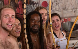 Singing Capoeira Performers Stock Images