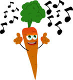 Singing carrot Royalty Free Stock Image