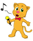 Singing Cat Stock Image