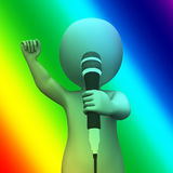 Singing Character Shows Music Songs Or Perform Royalty Free Stock Image