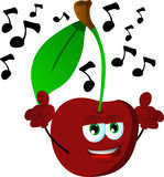 Singing cherry Royalty Free Stock Photography