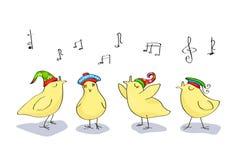 Singing chicken stock illustration
