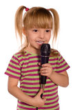 Singing child Royalty Free Stock Photo