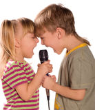 Singing child Royalty Free Stock Images