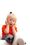 Singing child of 2 years old Stock Images
