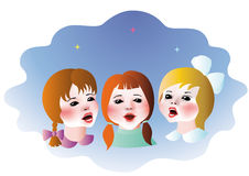 Singing children Royalty Free Stock Image