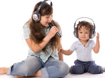 Singing children. Stock Photos