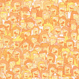 Singing children choir seamless pattern Royalty Free Stock Photo