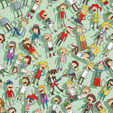 Singing children seamless pattern Royalty Free Stock Image