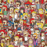 Singing children seamless pattern Stock Images