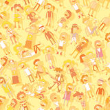 Singing children seamless pattern Stock Image