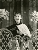 Singing Christmas carols Royalty Free Stock Photos