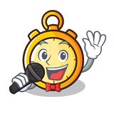 Singing chronometer character cartoon style Stock Photo