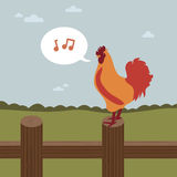 Singing cockerel Royalty Free Stock Photo