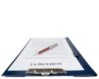 Singing the contract (agreement) Stock Images
