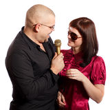 Singing couple Royalty Free Stock Image