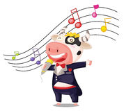 Singing cow Royalty Free Stock Images