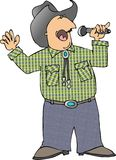 Singing cowboy. This illustration depicts a cowboy singing into a microphone Royalty Free Stock Photos