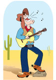 Singing cowboy and music royalty free stock photography