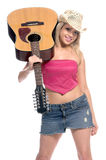 Singing Cowgirl Stock Image