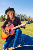 Singing Cowgirl Vertical Royalty Free Stock Image