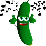 Singing cucumber or pickle Stock Images