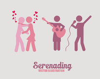 Singing and dancing icons,  illustration Stock Image
