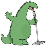 Singing Dinosaur Royalty Free Stock Photography