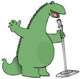Singing Dinosaur Royalty Free Stock Photography