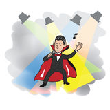 Singing Dracula Stock Photo